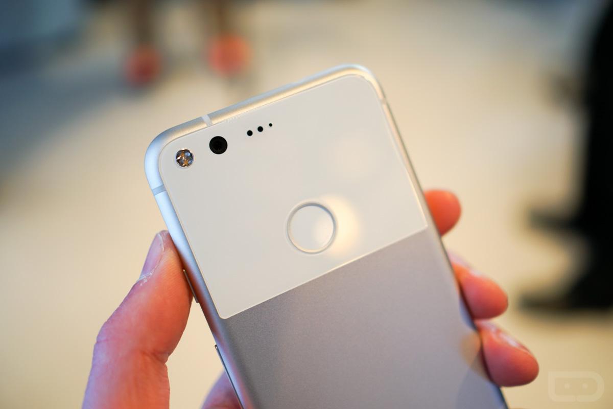 pixel phone silver white