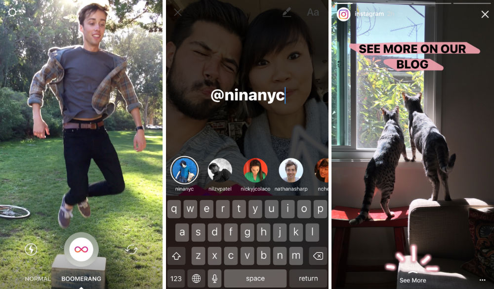 Instagram Brings Boomerang Mentions And 39 See More 39 Links
