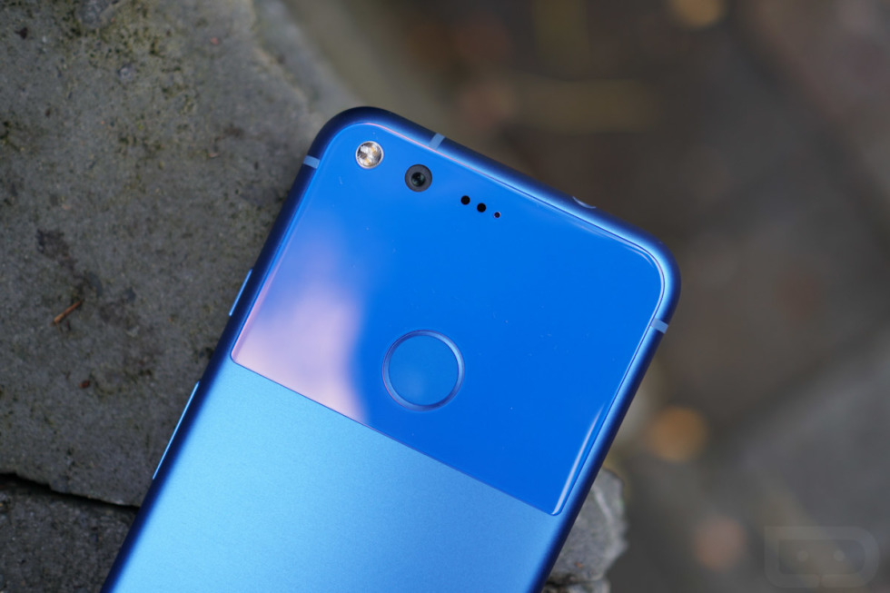 google pixel really blue