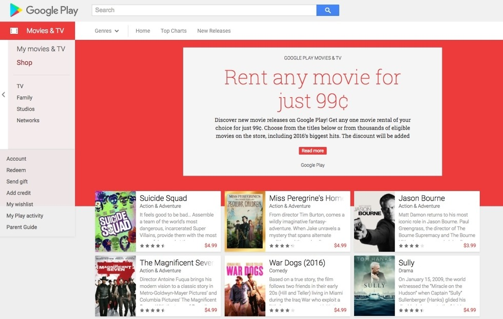 Use This Code to Get Any Movie Rental on Google Play for $0 99