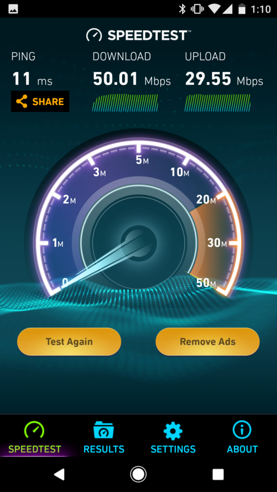 eero speedtest