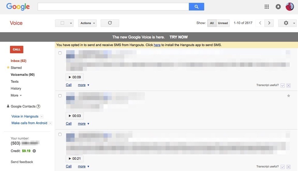 new google voice
