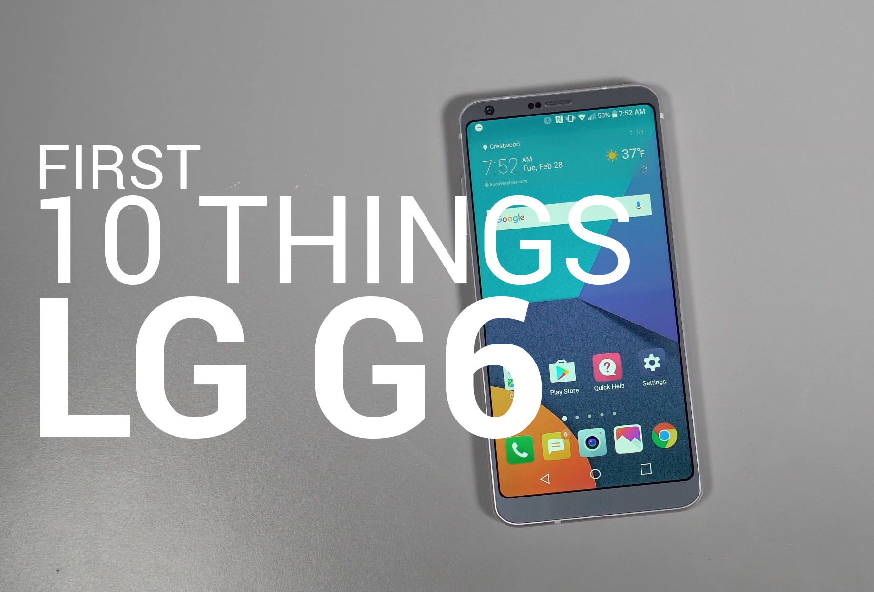 G6 FIRST 10 THINGS