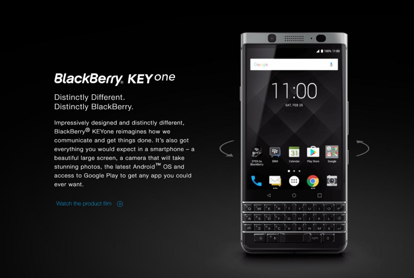 """Blackberry """"Mercury"""" Goes Official as the KEYone for the"""
