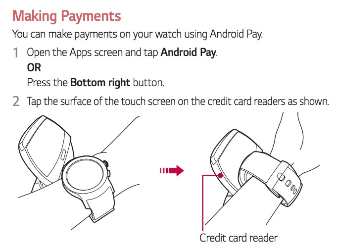 android pay android wear