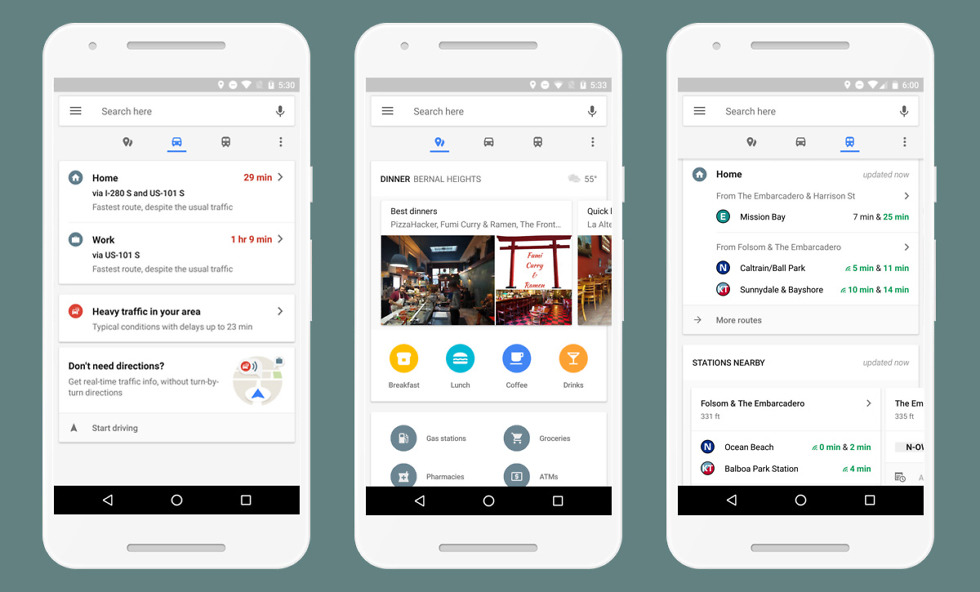 Google Maps Gets Real Time Commute Info In New Bottom Toolbar