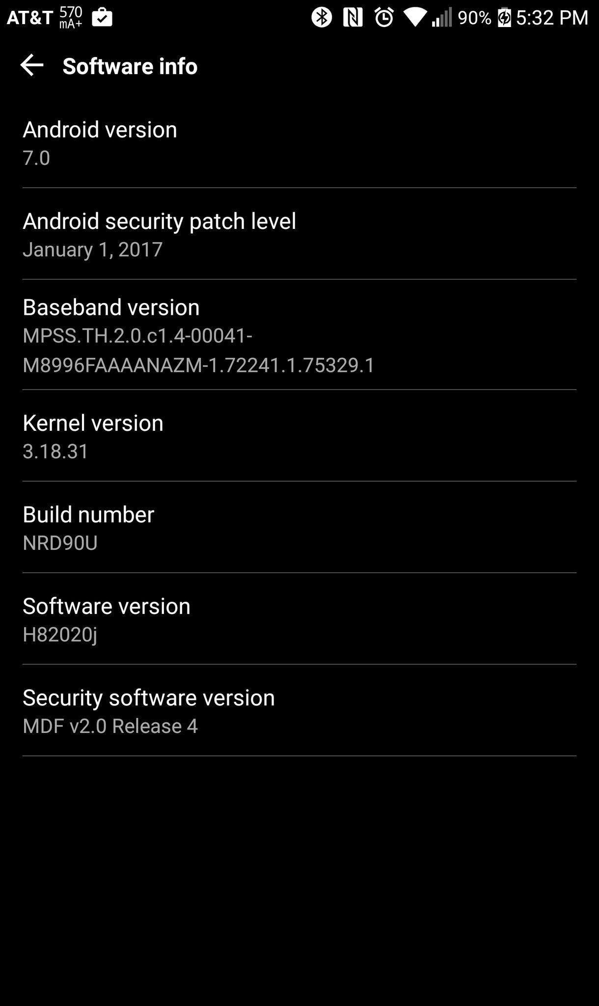 lg g5 nougat update