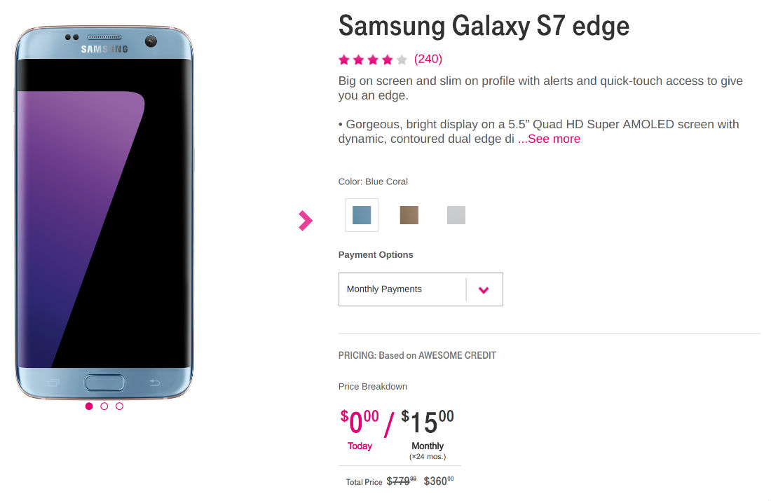 tmobile galaxy s7 edge deal