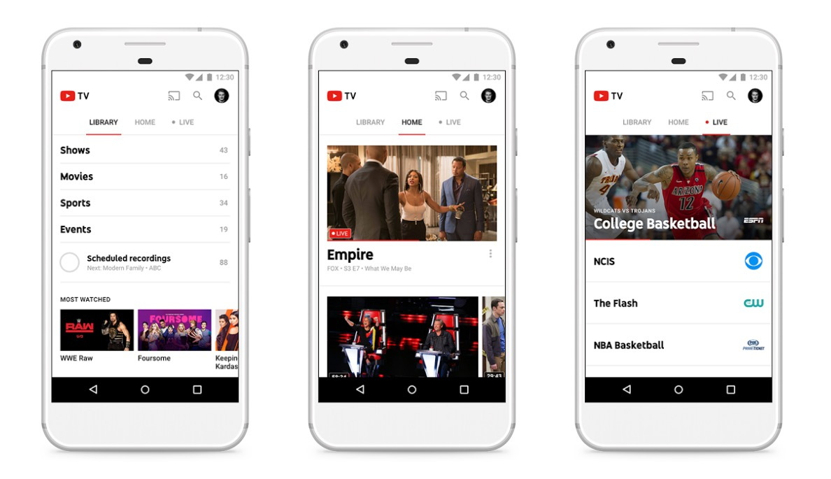 YouTube TV Adds More Channels To Its List