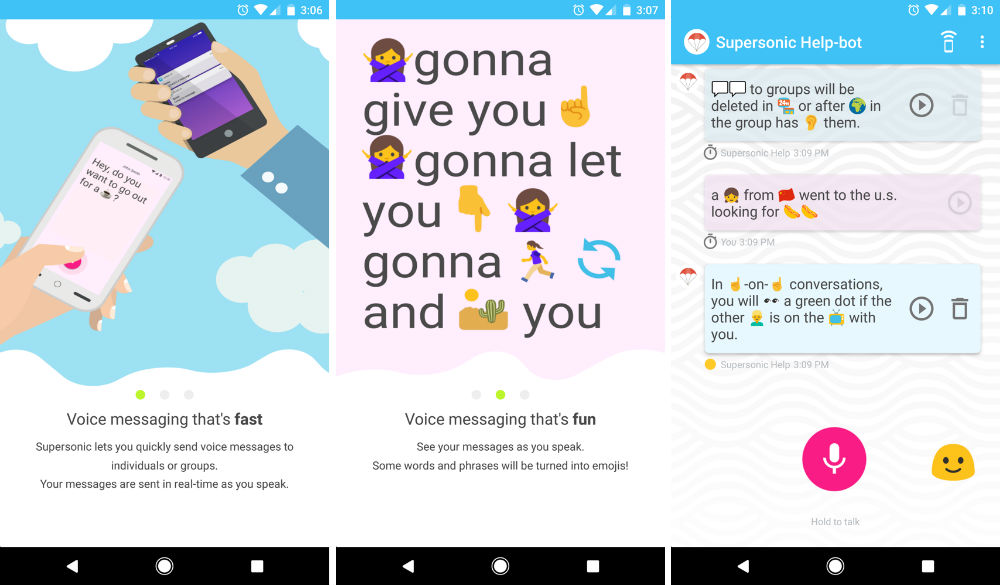 Google's Supersonic Fun Voice Messenger app will translate your words into emoji