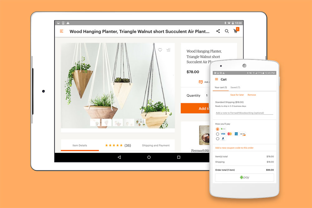 etsy android pay
