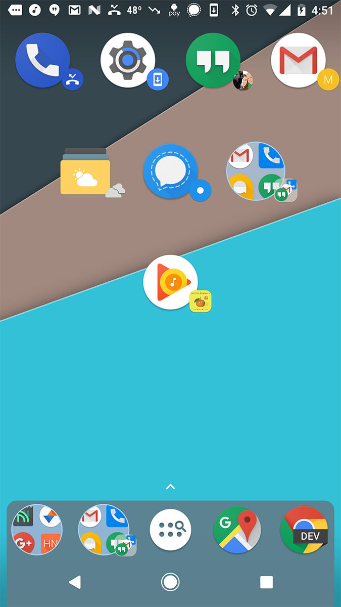 nova launcher badges