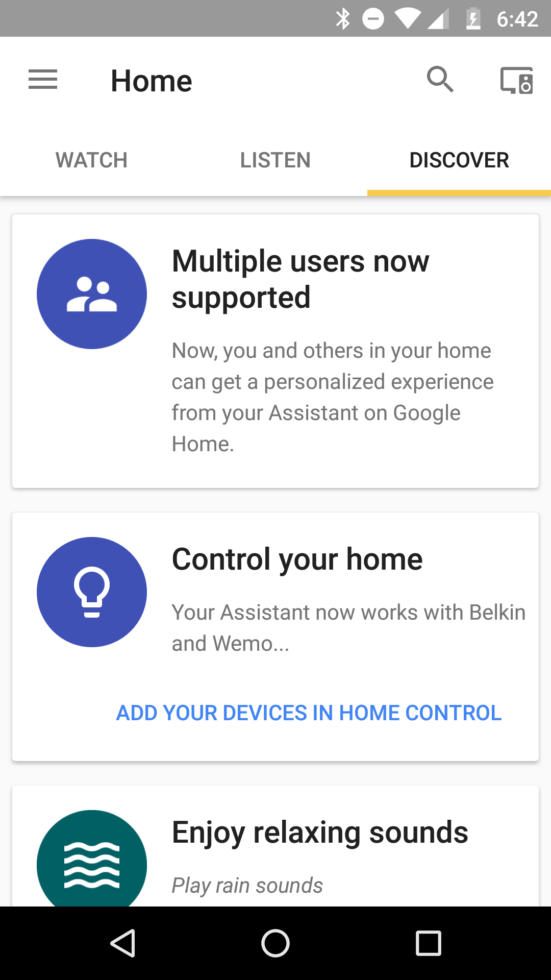 google home multiple users