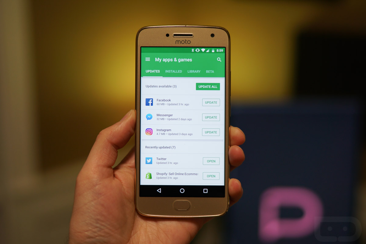Google rolling out revamped My Apps and Games section in Play Store