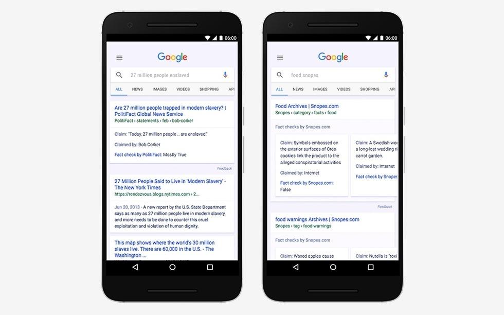 google search fact checker
