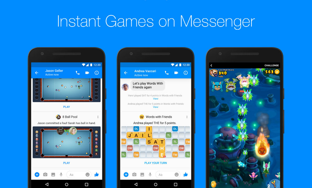 Facebook Messenger rolls out Instant Games worldwide