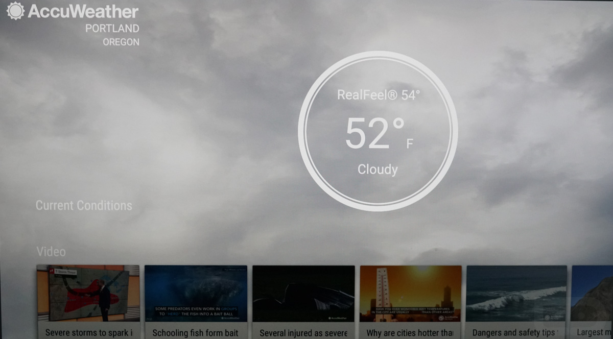 accuweather android tv