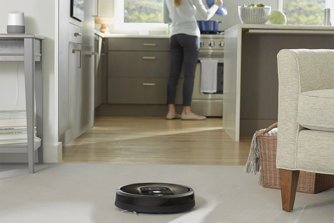 google assistant roomba