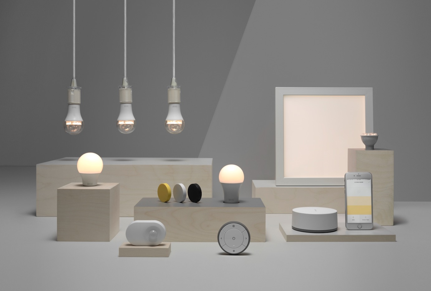 ikea 39 s tr dfri smart lighting will soon work with google. Black Bedroom Furniture Sets. Home Design Ideas