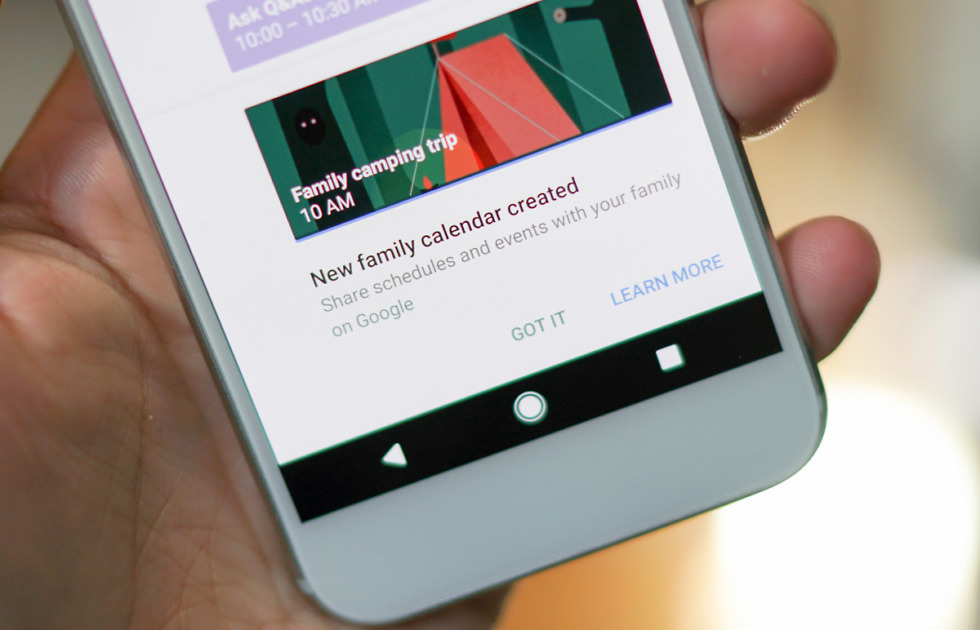 Google Family Calendars And Keep Family Sharing Went Live This