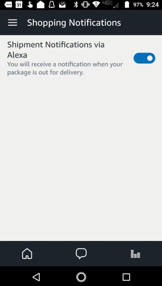amazon echo shopping notifications