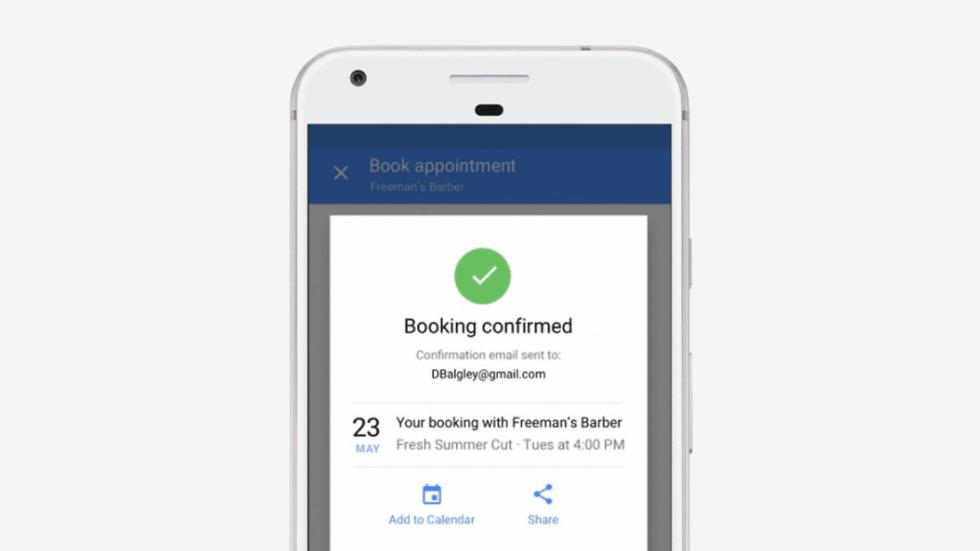 google salon spa booking
