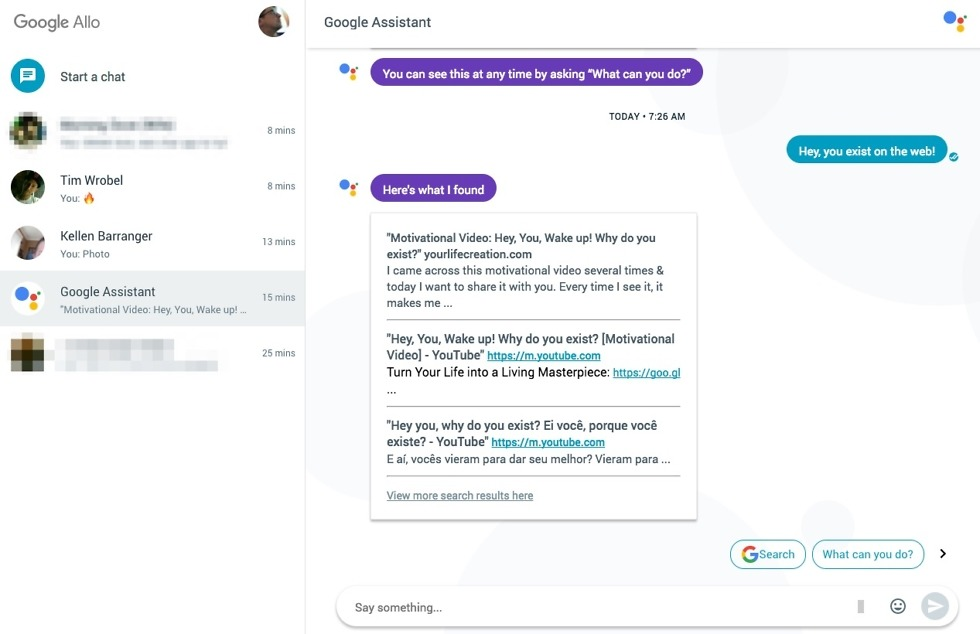 setup google allo for web