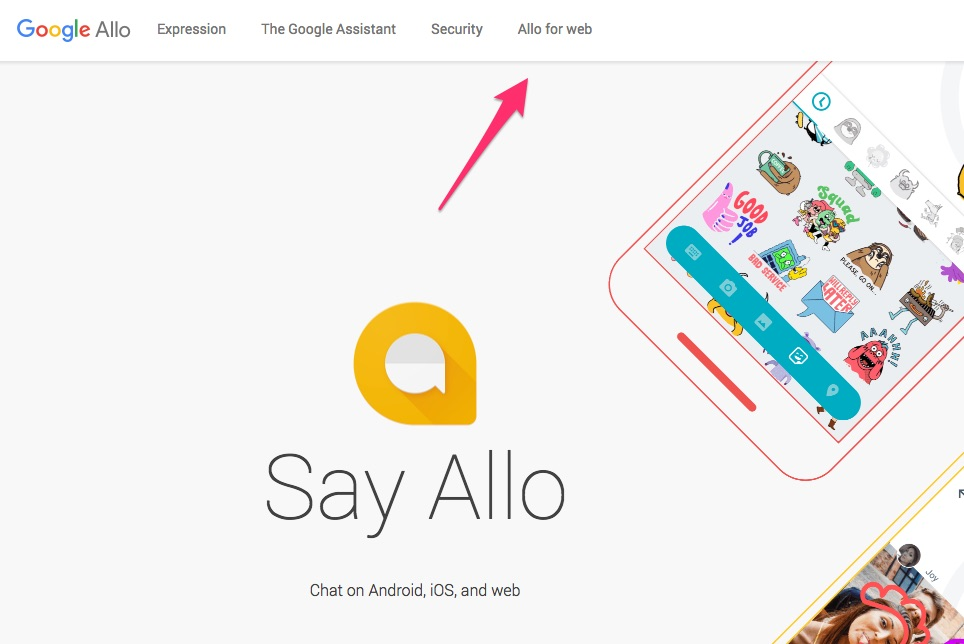 New desktop platform for Allo, alike Whatsapp Web