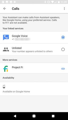 google home free calling