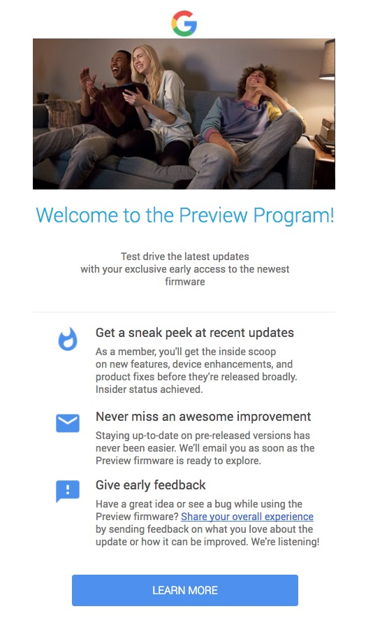 google home preview program