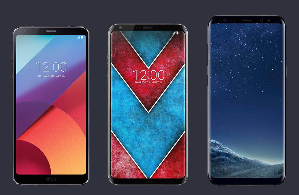 lg v30 vs g6 vs galaxy s8 render