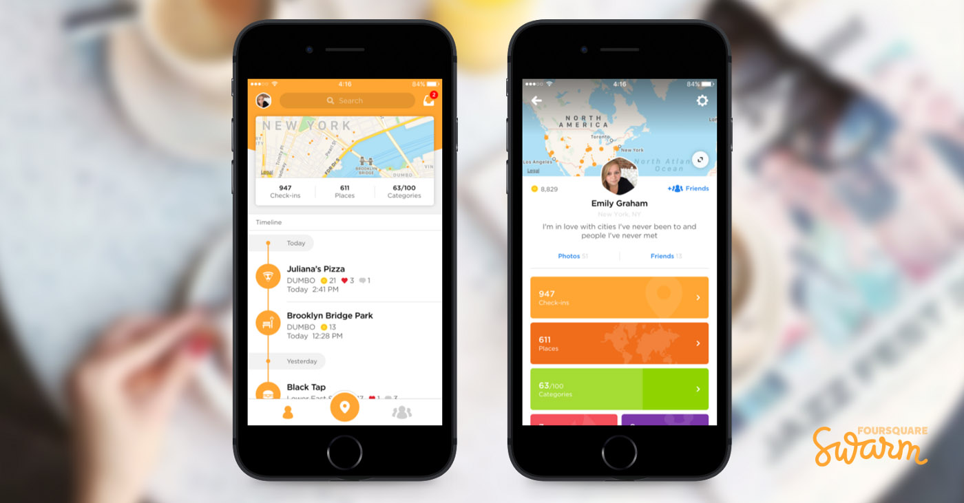 Foursquare's Swarm Updates to V5 0 to Bring Your Lifelog to
