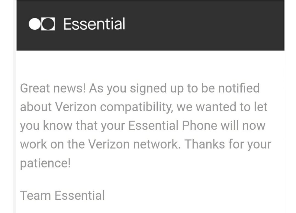 essential verizon certification