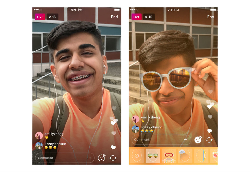 Instagram Intros Face Filters for Live Videos
