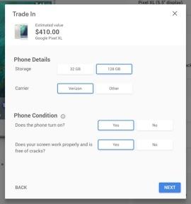 google pixel xl trade-in value