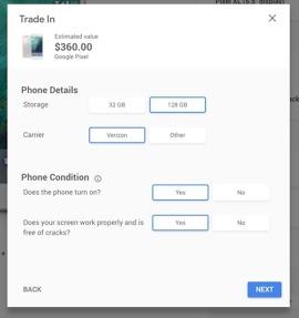 google pixel trade-in value