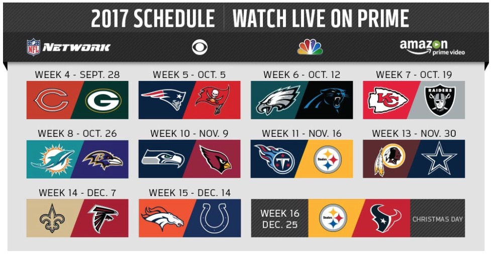 amazon prime nfl schedule