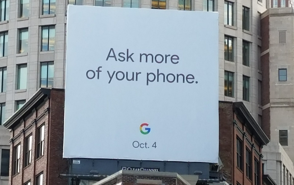 Google Billboard Suggests Phone Event on October 4 | Droid Life