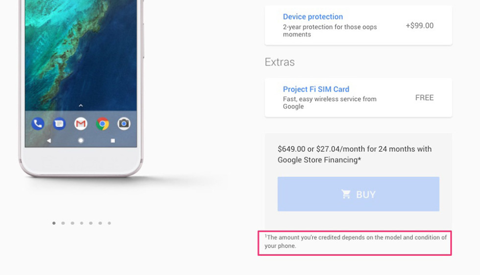 google store pixel trade-in program