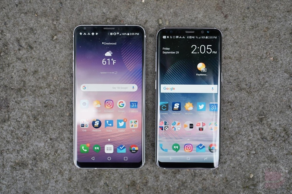 lg v30 vs galaxy s8