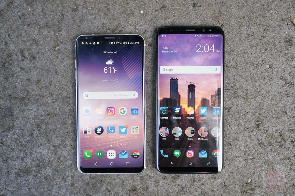 lg v30 vs galaxy s8 plus