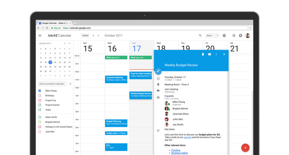 google calendar sexified with material design now available to all