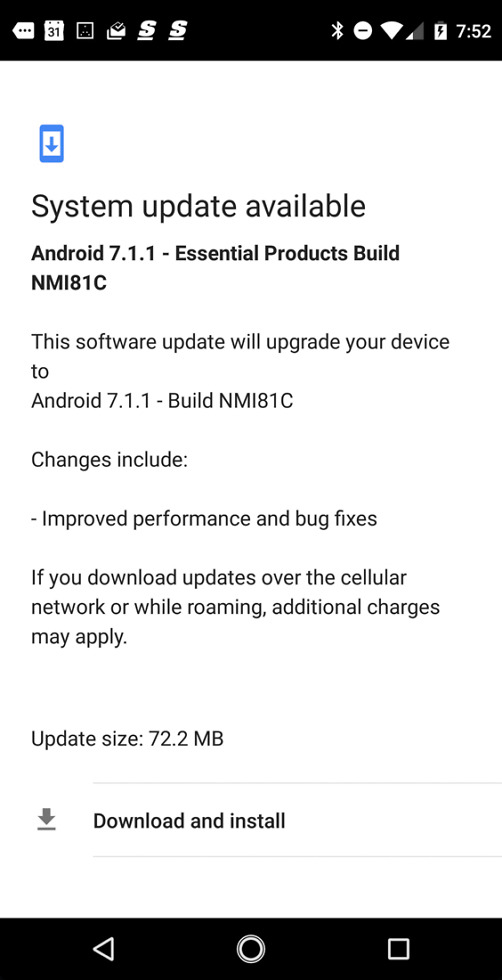 essential update