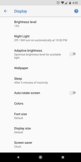 pixel 2 xl color profiles