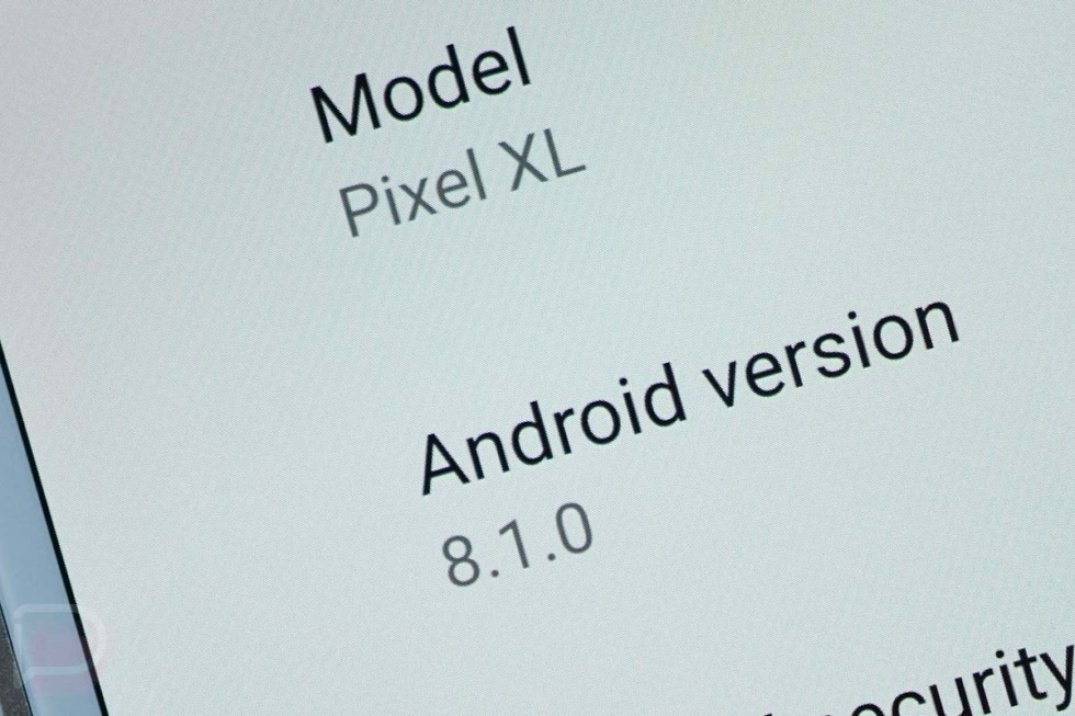 android 8.1 update