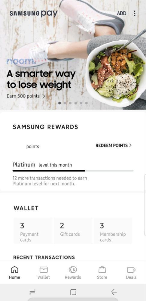 Samsung Pay Picks Up New UI, Includes Bottom Nav Bar and