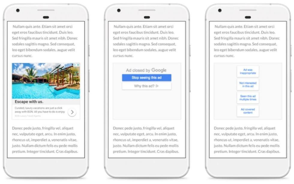 google ad controls block