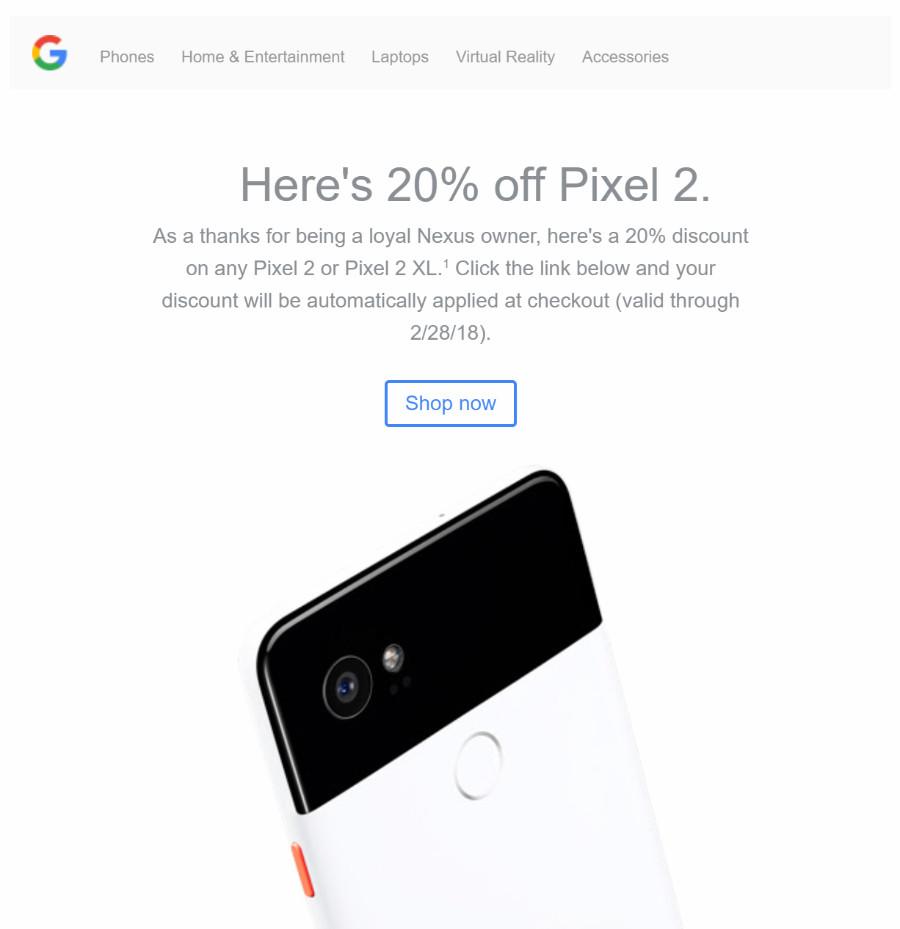 20 off pixel google store