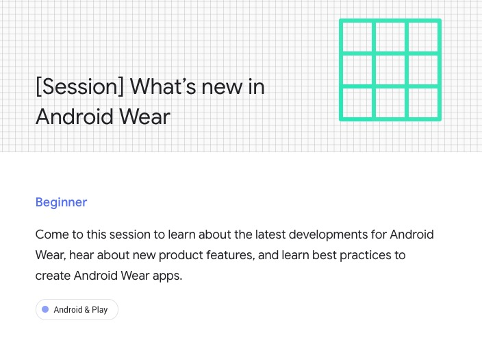 google io android wear