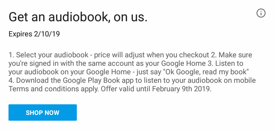 google home owners are getting a free audiobook droid life